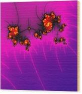 Pink And Purple Digital Fractal Artwork Wood Print