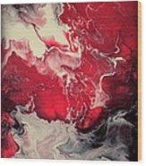 Pink And Purple Fluid Painting Wood Print