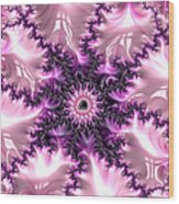 Pink And Purple Soft And Creamy Fractal Art Wood Print