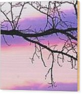Pink And Purple Sunset Wood Print