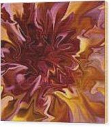 Pink And Yellow Fantasy 1 Wood Print