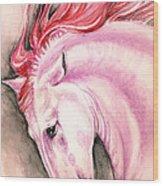 Pink Andalusian Wood Print