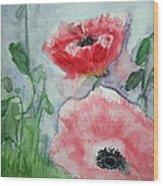 Pink Anemones Wood Print