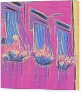 Pink Balcony Wood Print by Marcia Meade