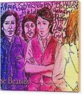 Pink Beatles From Rainbow Series Wood Print
