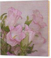 Pink Bell Flowers Wood Print