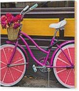 Pink Bike Wood Print