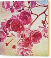 Pink Blossom - Watercolor Edition Wood Print