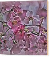 Pink Blossoms - Paint Wood Print