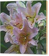 Pink Bridal Bouquet Wood Print