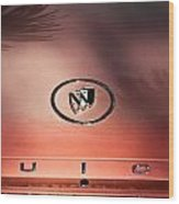 Pink Buick Wood Print by Merrick Imagery