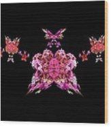 Pink Butterflies Wood Print