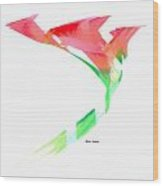 Pink Calla Lilies Wood Print