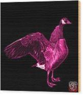 Pink Canada Goose Pop Art - 7585 - Bb  Wood Print