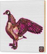 Pink Canada Goose Pop Art - 7585 - Wb Wood Print