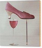 Pink Capezio Pump Wood Print
