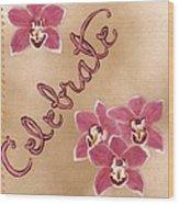 Pink Celebration Wood Print