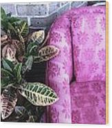 Pink Chair Wood Print