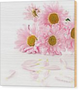 Pink Chrysanthemums Beautiful Wood Print by Boon Mee