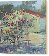 Pink Climbers In Texas Wood Print