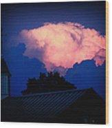 Pink Cloud Over Lexington Wood Print