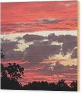 Pink Clouds Wood Print