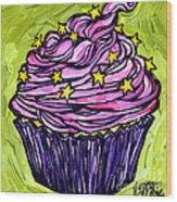 Pink Cupcake Wood Print