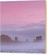 Pink Wood Print by Dustin  LeFevre