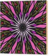 Pink Explosion Wood Print
