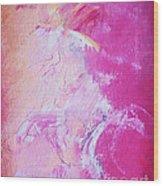 Pink Moving Wood Print