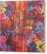 Pink Fern Wood Print