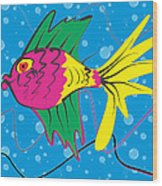 Pink Fish Wood Print