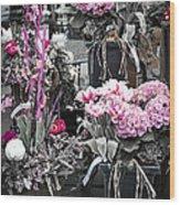 Pink Flower Arrangements Wood Print by Elena Elisseeva