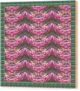 Pink Flower Petal Based Crystal Beads In Sync Wave Pattern Wood Print