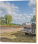 Pink Ford Edsel  Wood Print