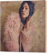 Pink Fru Fru  Wood Print