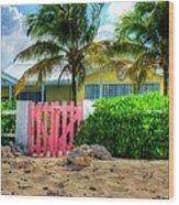 Pink Gate Wood Print