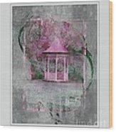 Pink Gazebo Wood Print