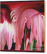 Pink Gladiolas Abstract Wood Print