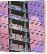 Pink Glass Clouds Wood Print