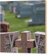 Pink Granite Tombstone Wood Print