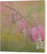 Pink Hearts Wood Print