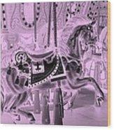 Pink Horse Wood Print