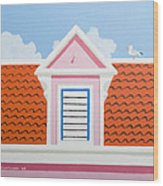Pink House Wood Print