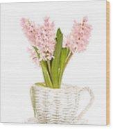 Pink Hyacinths Wood Print
