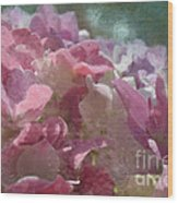 Pink Hydrangea Photoart I Wood Print
