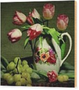 Pink In A Pitcher Wood Print