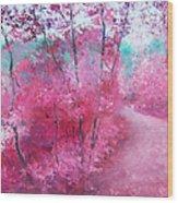 Pink Landscape Wood Print