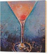 Pink Lemonade Martini Wood Print