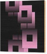 Pink Link Wood Print